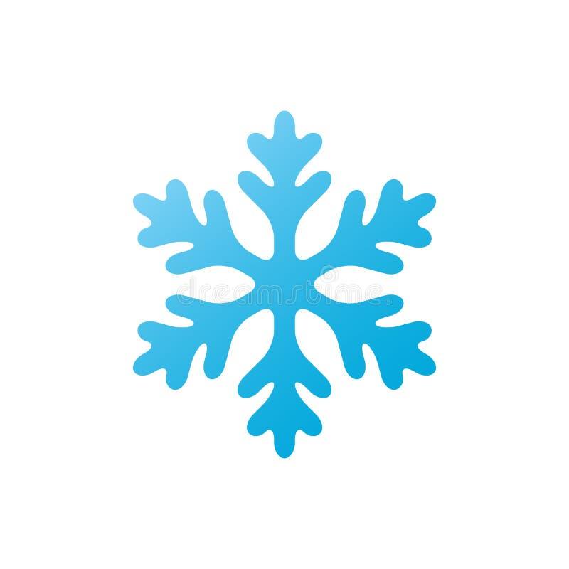 Sneeuwvlok - vectorpictogram Kerstmissymbool Geïsoleerde de wintersneeuwvlok vector illustratie
