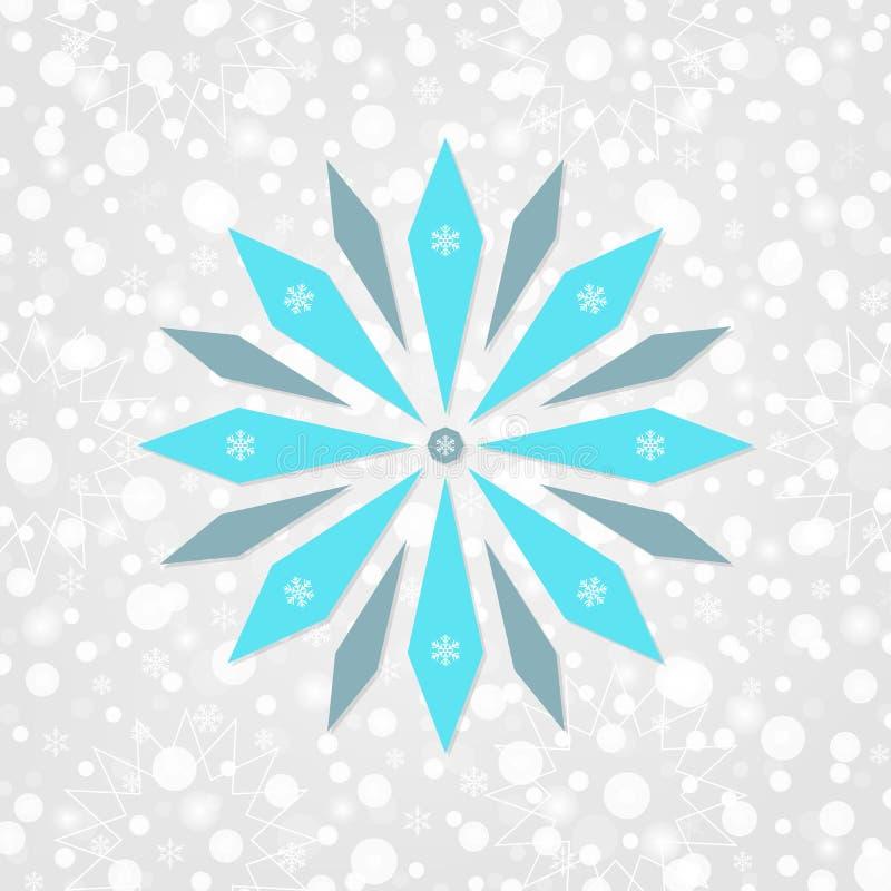 Sneeuwvlok vectorsymbool Vrolijke Kerstmis & Gelukkige Nieuwjaarillustratie De sneeuwpatroon van de de wintervakantie stock illustratie