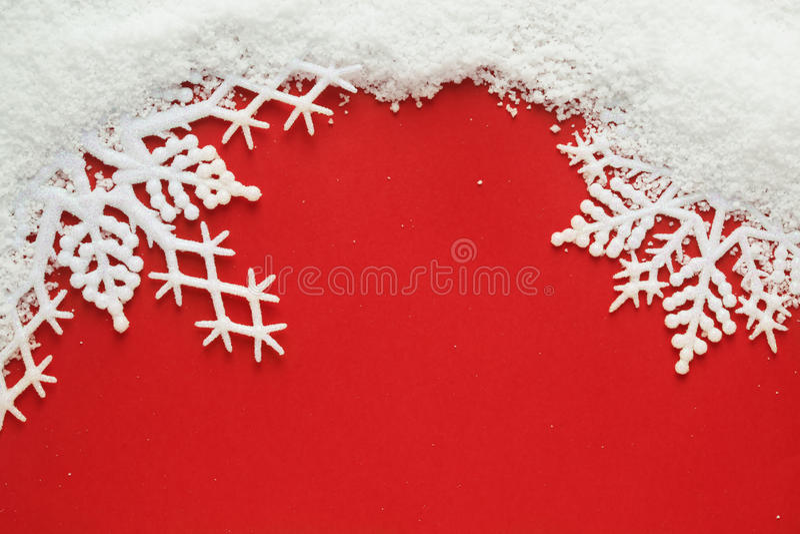 Sneeuwvlokachtergrond royalty-vrije stock afbeelding