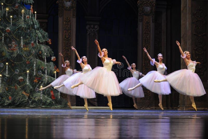 Sneeuwvlokfairy- het het suikergoedkoninkrijk van het tweede handelings tweede gebied - de Balletnotekraker royalty-vrije stock afbeelding