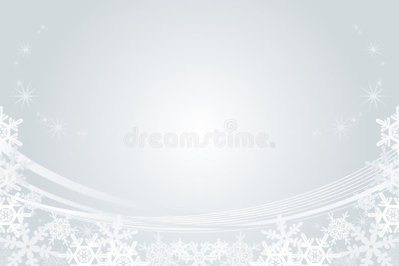 Sneeuwvlokkader, Zilver royalty-vrije illustratie