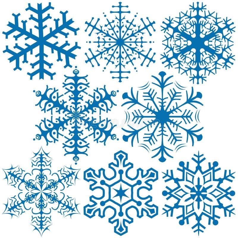 Sneeuwvlokken A vector illustratie