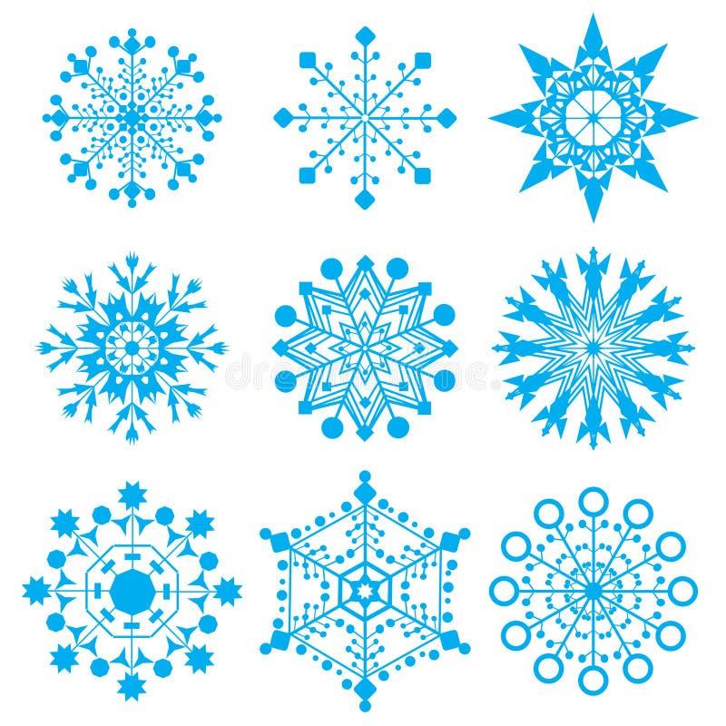 Sneeuwvlokken stock illustratie