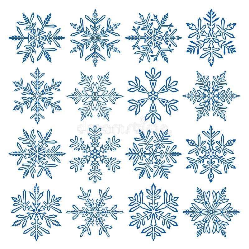 Sneeuwvlokken vector illustratie