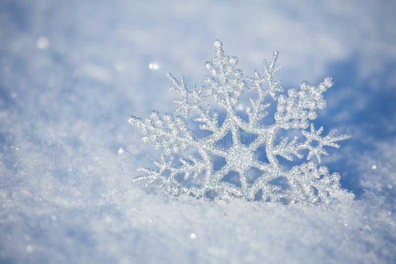 Sneeuwvlokken in de winter royalty-vrije stock foto's