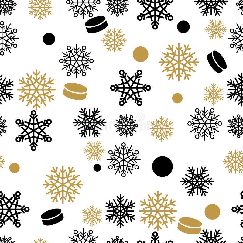 Sneeuwvlokken en Cake Vector Naadloos Patroon vector illustratie