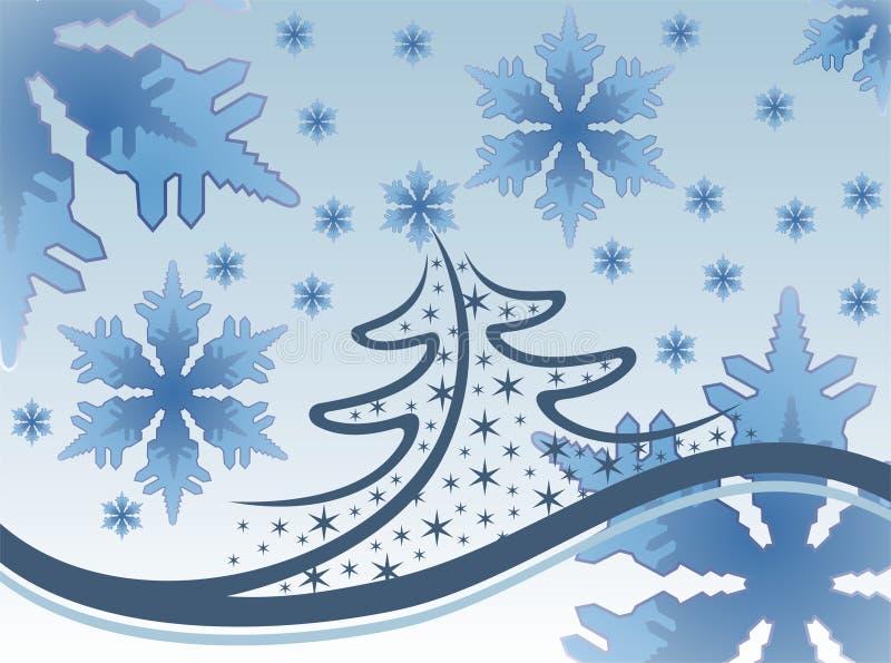Sneeuwvlokken en Kerstmis vector illustratie