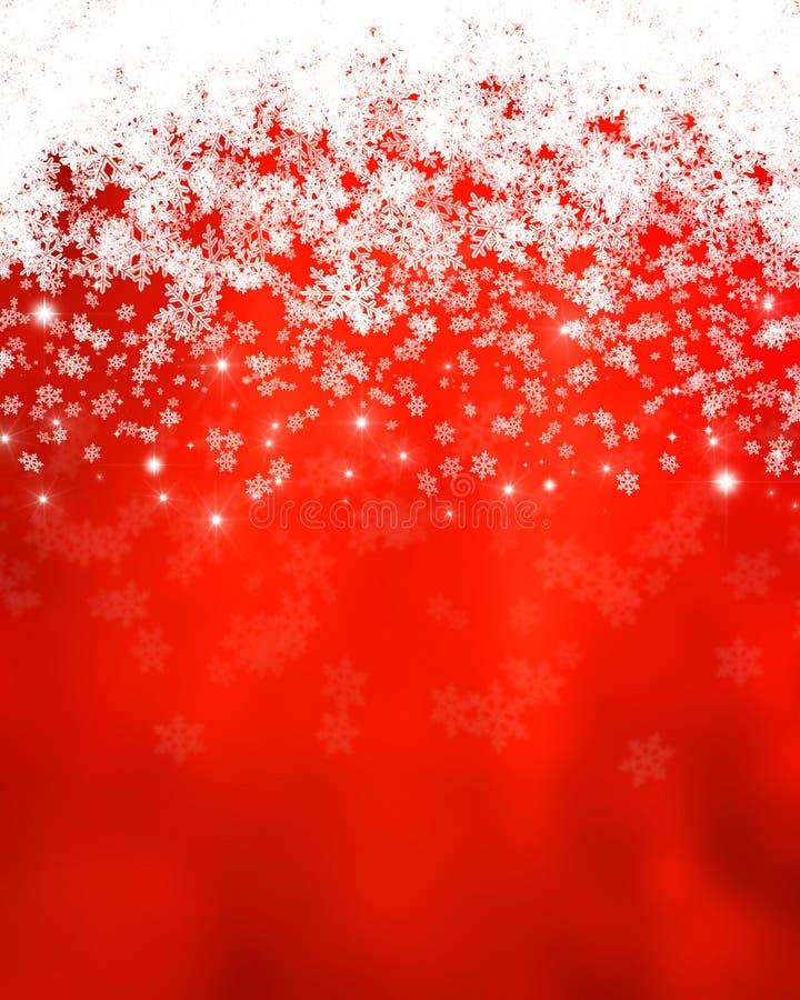 Sneeuwvlokken en sterren royalty-vrije illustratie
