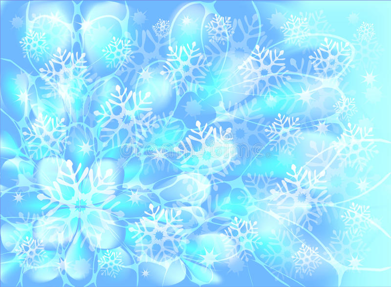 Sneeuwvlokken op een blauwe achtergrond Eps10 Vector vector illustratie