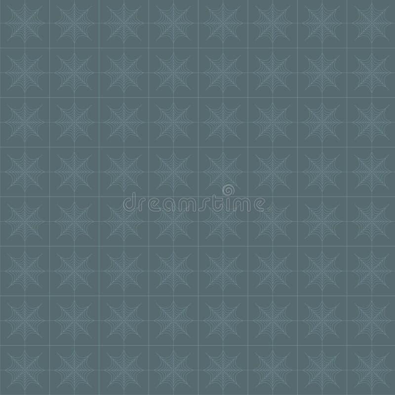 Sneeuwvlokken, spiderweb naadloos patroon vector illustratie