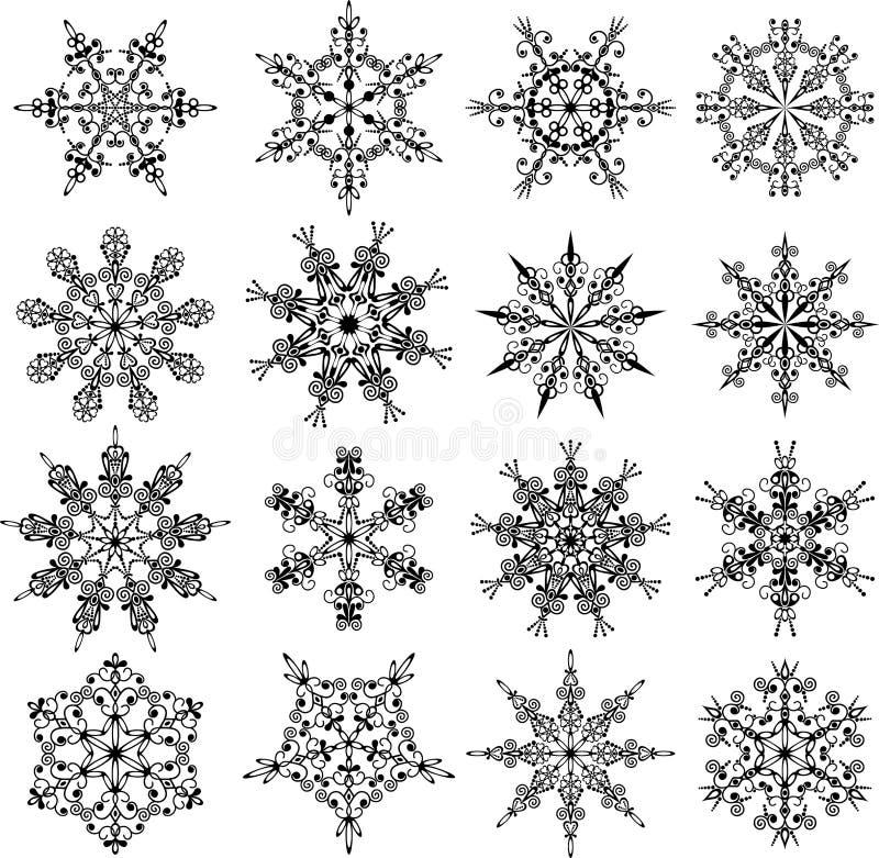 Sneeuwvlokken, vector royalty-vrije illustratie