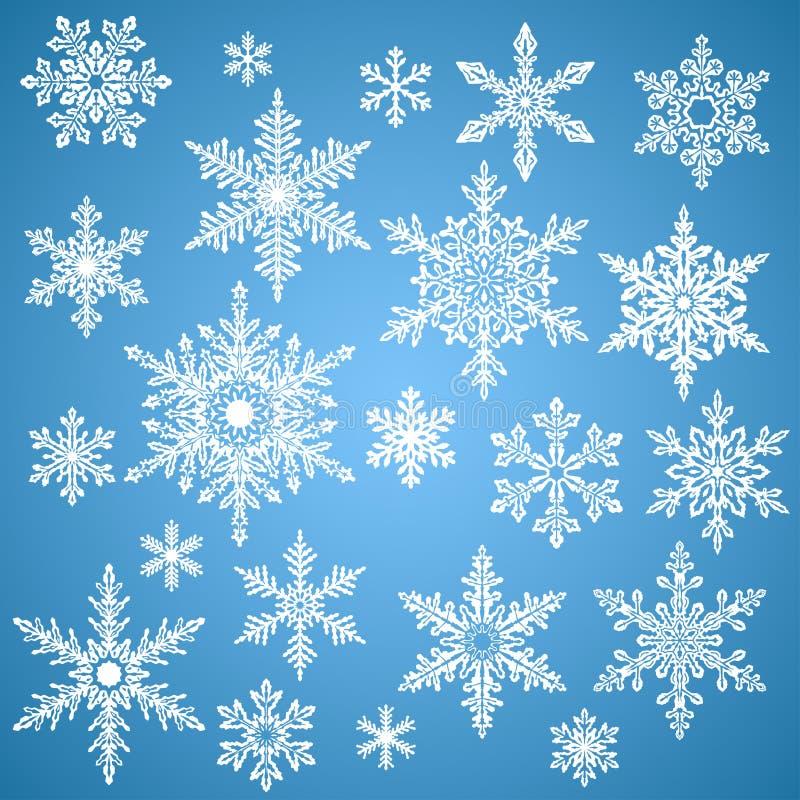 Sneeuwvlokken voor ontwerpkunstwerk vector illustratie