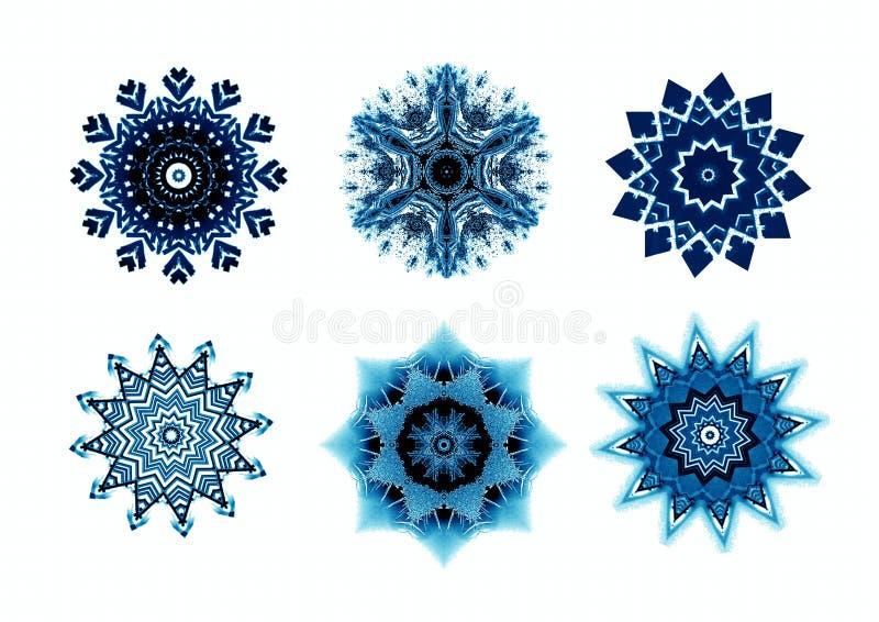 Sneeuwvlokken voor ontwerpkunstwerk. stock illustratie