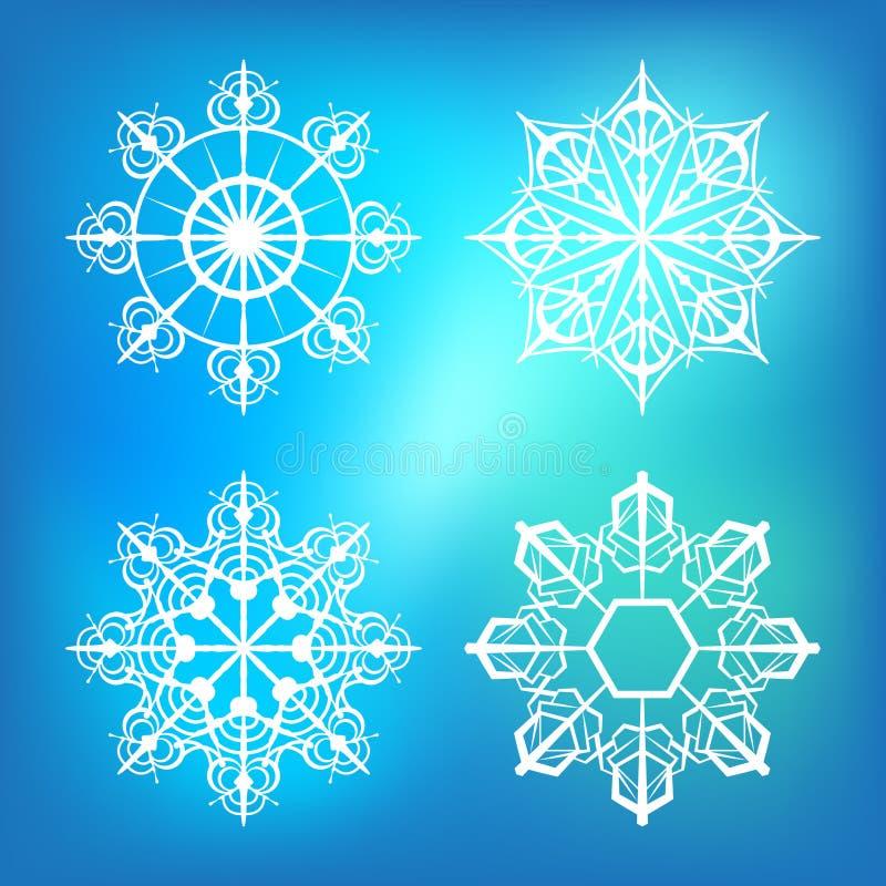 Sneeuwvlokken voor ontwerpkunstwerk stock fotografie