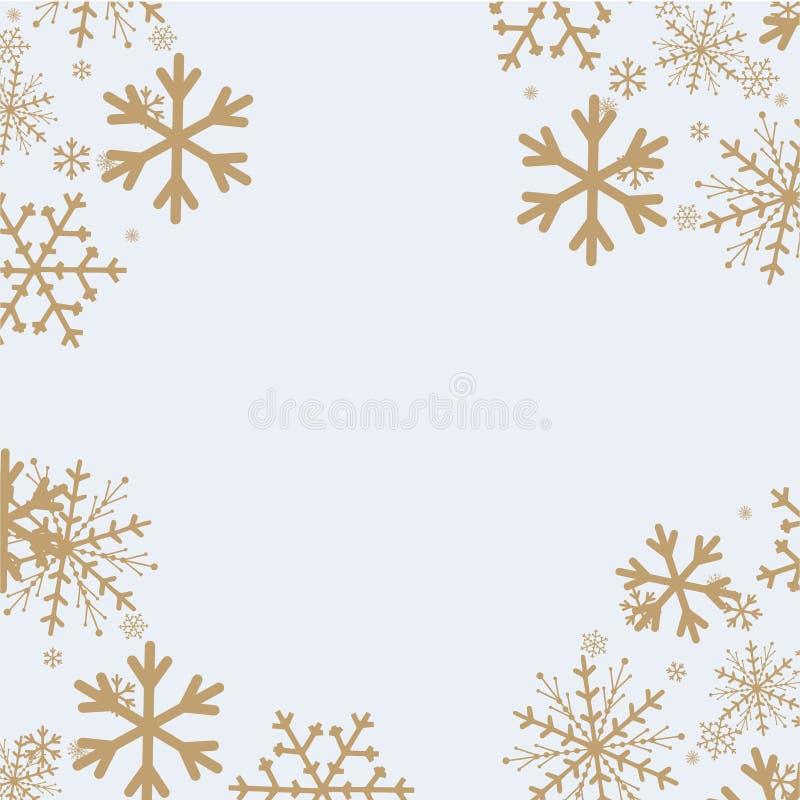 Sneeuwvlokkenachtergrond voor de winter en Nieuwjaar, Kerstmisthema sneeuw, royalty-vrije illustratie