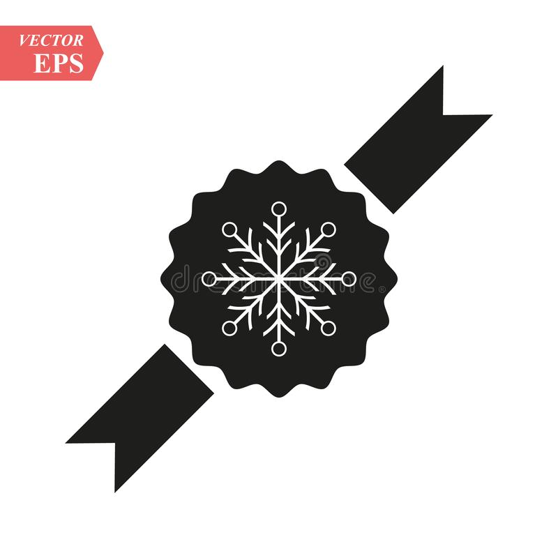 Sneeuwvlokoverzicht op toekenningspictogram lineair stijlteken voor mobiel concept en Webontwerp Van de de vakantie het eenvoudig vector illustratie
