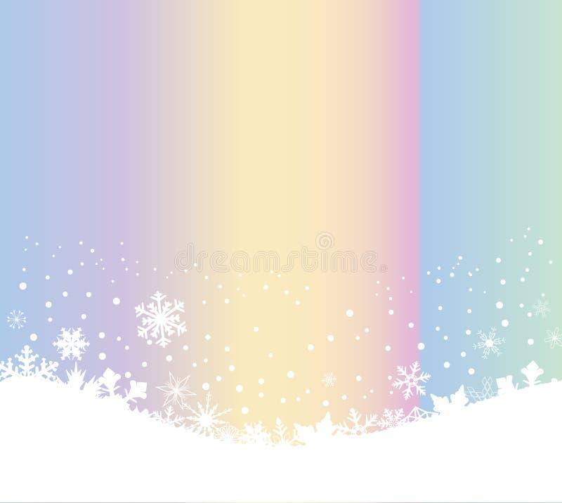 Sneeuwvlokscène als Kerstmis Seizoengebonden Achtergrond vector illustratie