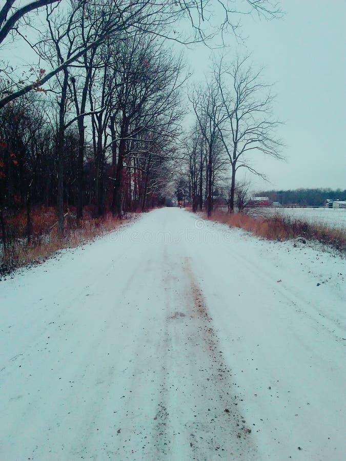Sneeuwweg royalty-vrije stock foto's