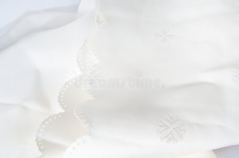 Sneeuwwit Tafelkleed royalty-vrije stock foto