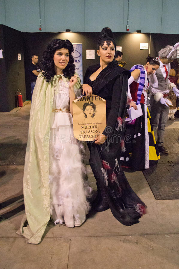 Sneeuwwitje en de Koningin Cartoomics 2014 royalty-vrije stock foto's