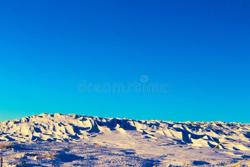 Sneeuwwoestijn op de berg royalty-vrije stock foto