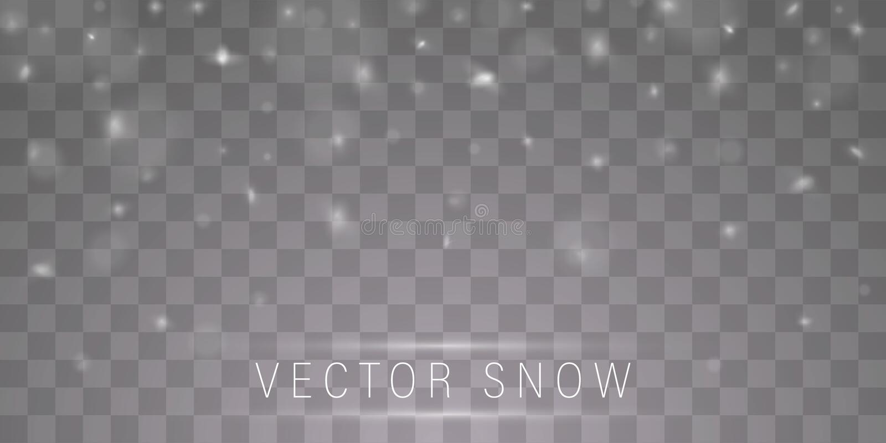 Sneeuwwolken of sluiers royalty-vrije illustratie