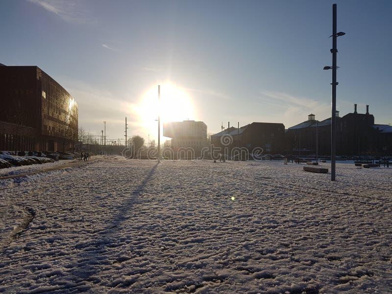 Sneeuwzonstijging royalty-vrije stock foto's