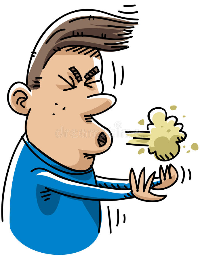 sneeze κινούμενων σχεδίων ελεύθερη απεικόνιση δικαιώματος