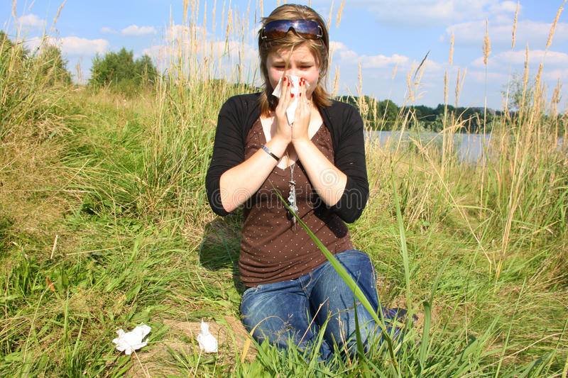 Download Sneeze stock image. Image of lake, handkerchief, woman - 15789825