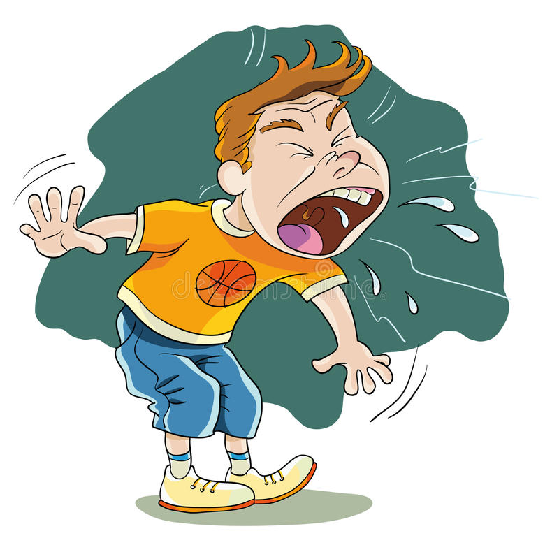sneeze ilustração stock