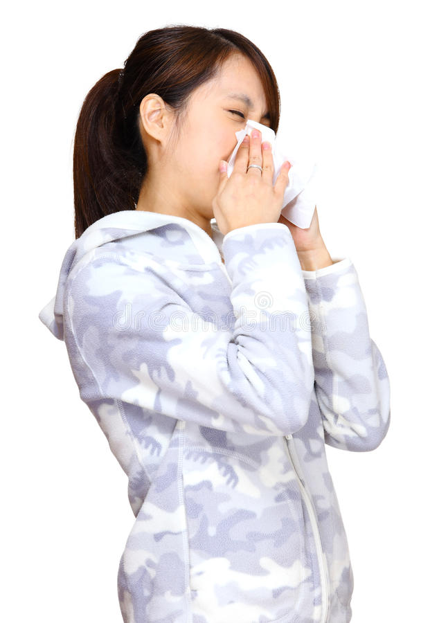 Download Sneeze Asian Young Girl Stock Photo - Image: 24091030
