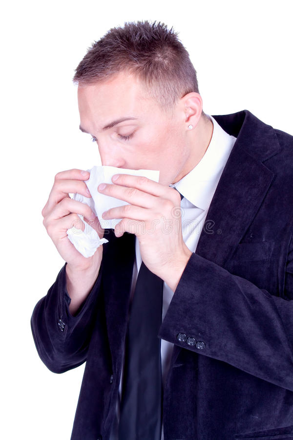 Download Sneeze... Businessman With A Influenza Stock Photo - Image: 12297216
