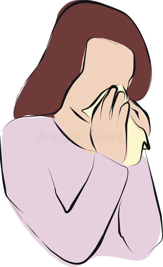 Sneezing and cough vector illustration