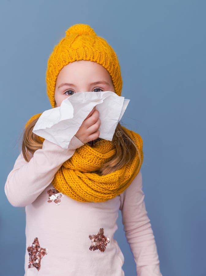 Sneezing season in autumn royalty free stock photo