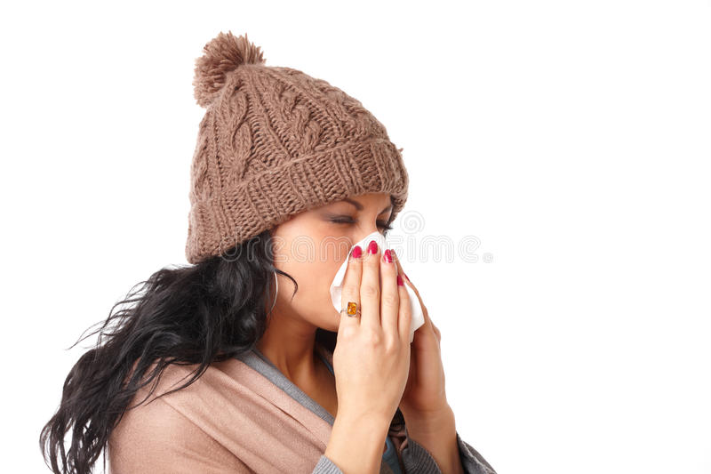 Download Sneezing woman stock image. Image of colorful, disease - 22178805