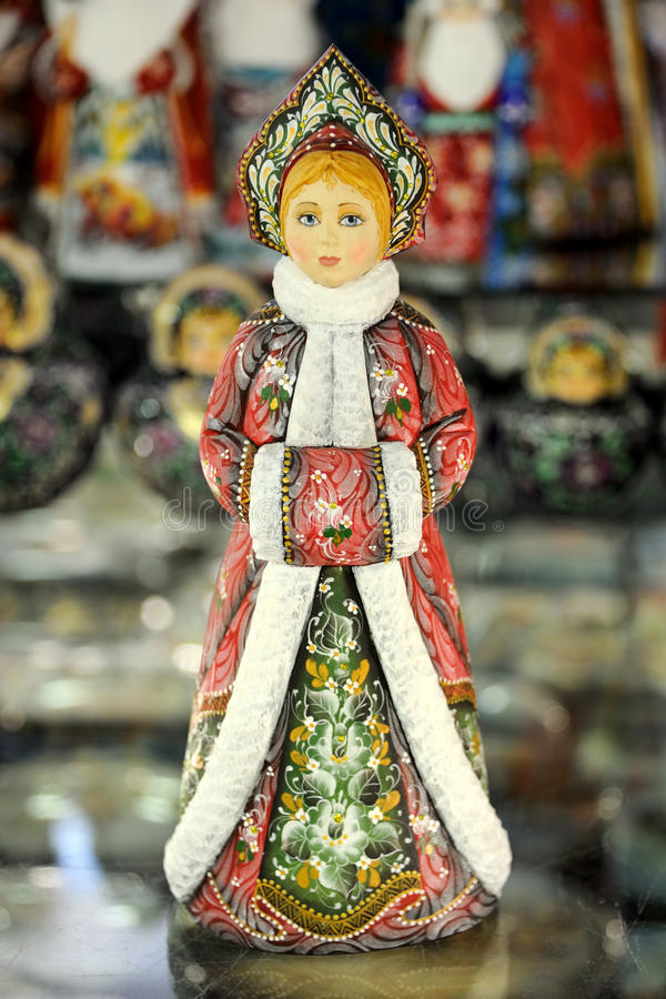 Snegurochka - a beleza do russo - russo Handcrafts foto de stock royalty free