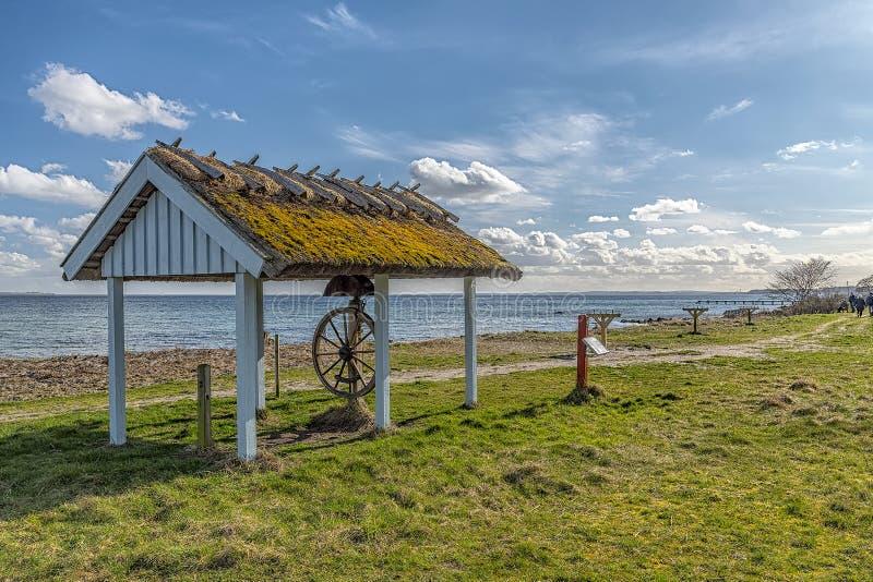 Snekkersten tråd i Danmark arkivbilder