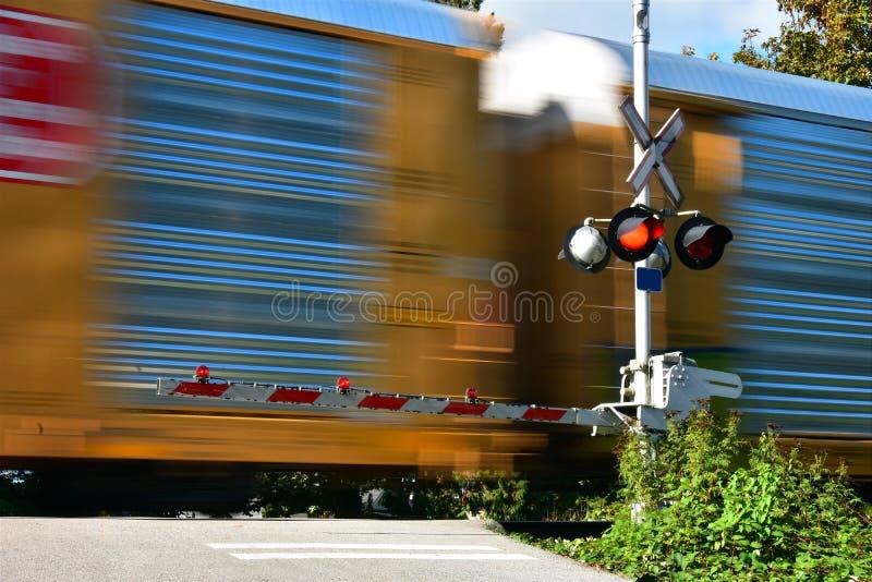 Snel bewegende trein stock foto's