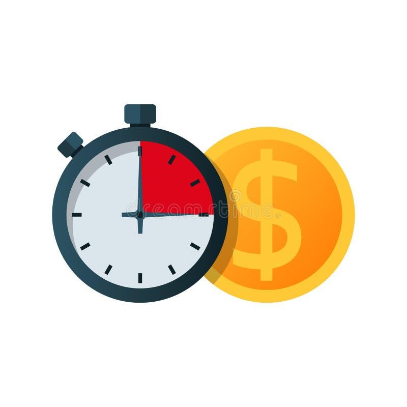 Snel geld Het verstrekken van een krediet in een korte tijd royalty-vrije illustratie