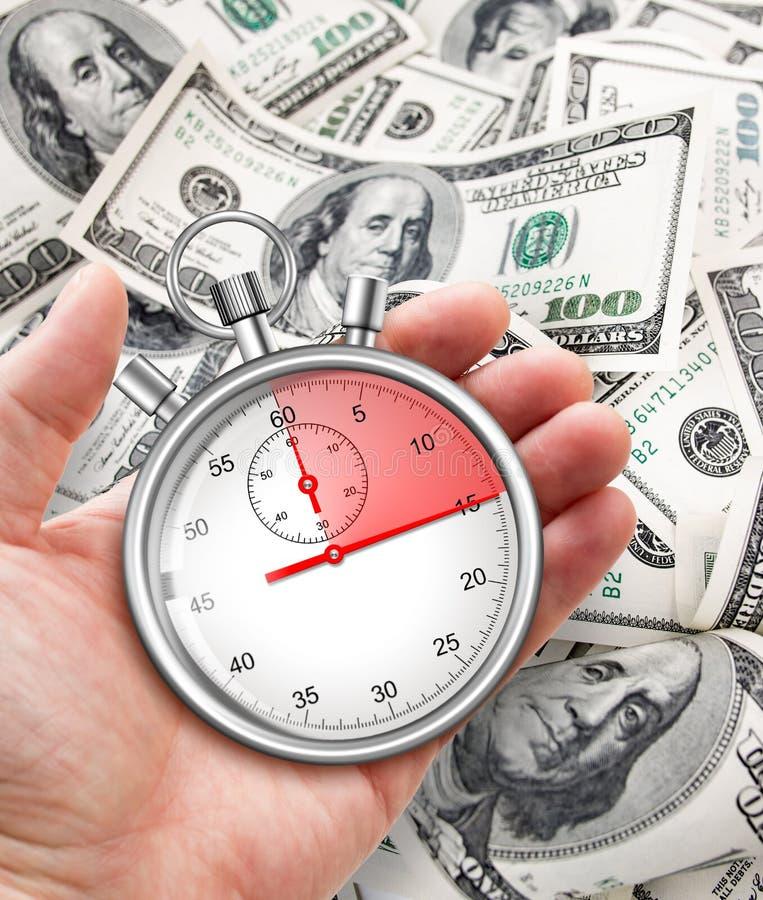 Snel krediet in contant geld concept royalty-vrije stock afbeelding