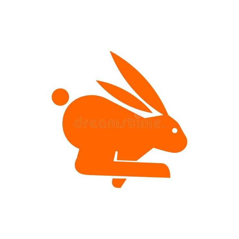 Snel lopend konijnpictogram Vlakke vectorillustratie voor Webontwerp, infographics en mobiele toepassing stock illustratie