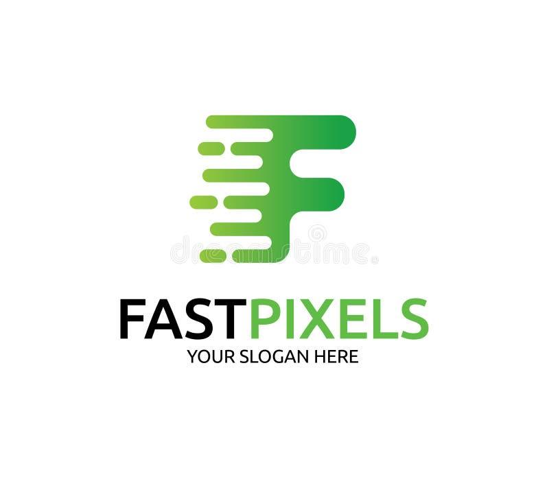 Snel Pixelembleem vector illustratie