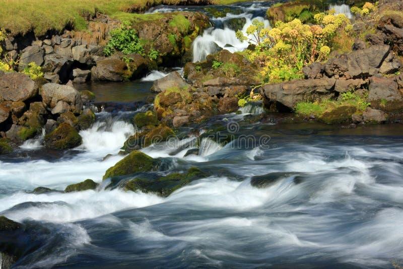 Snel stromende rivier royalty-vrije stock afbeeldingen