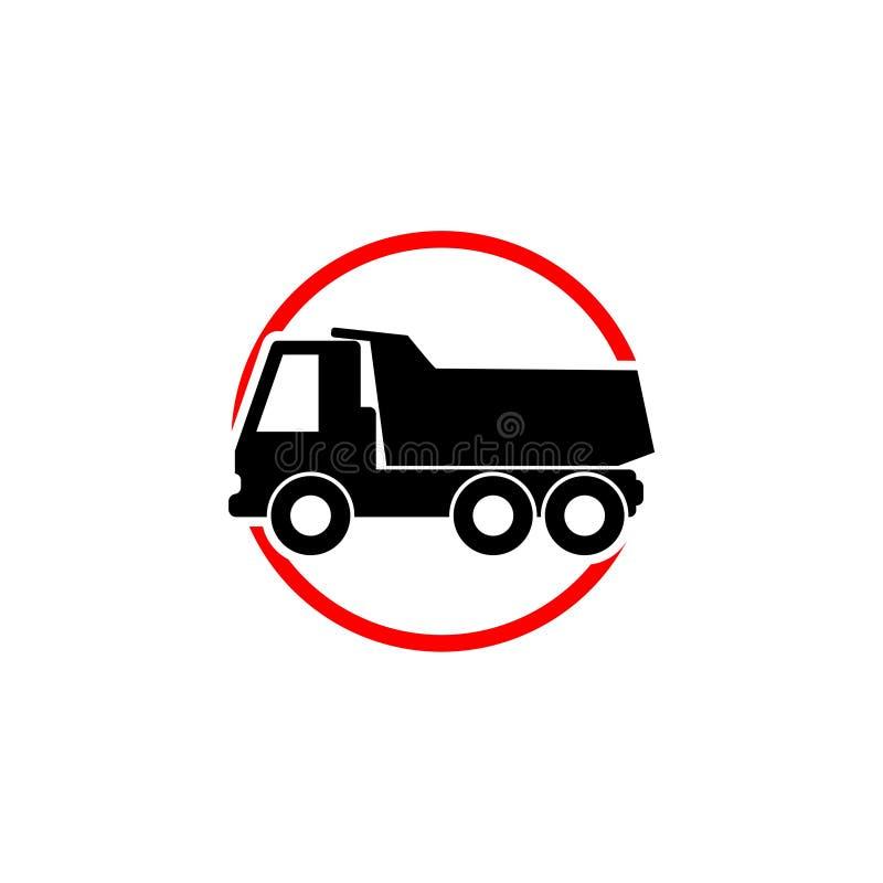 Snel van het het bedrijfs silhouetconcept van de autovrachtwagen embleemmalplaatje vector illustratie