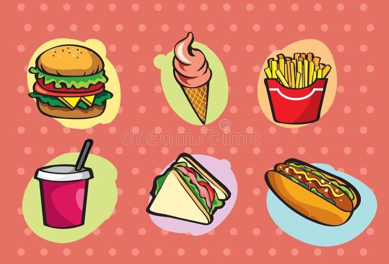 Snel Voedsel royalty-vrije illustratie