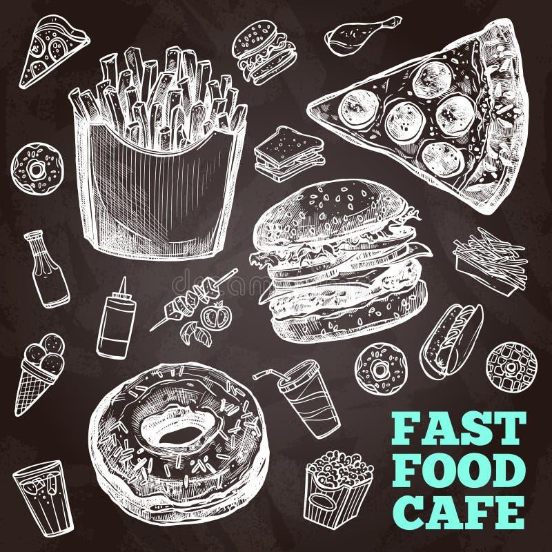 Snel voedselbord vector illustratie