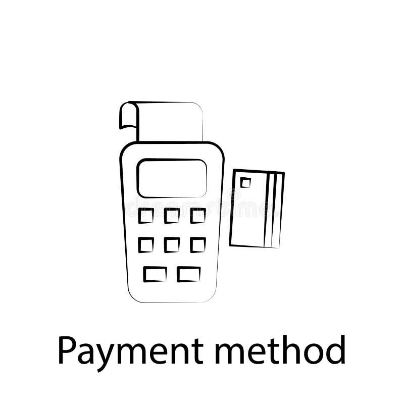 Snel voedselkaart, het pictogram van het betalingsoverzicht r De tekens en de symbolen kunnen voor Web, embleem, mobiele toepassi royalty-vrije illustratie