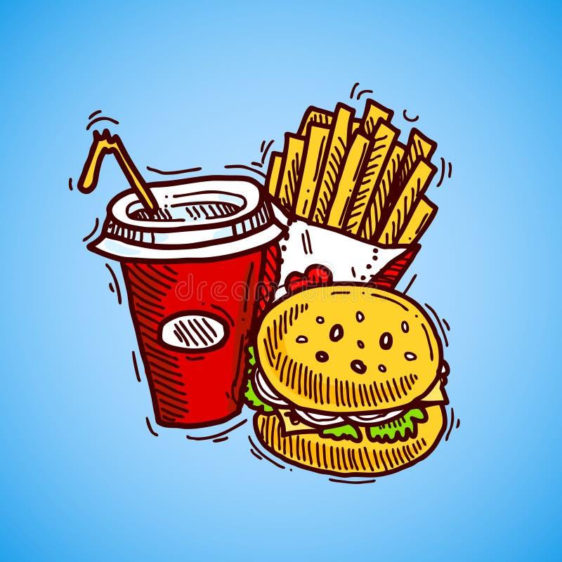 Snel Voedselpictogram vector illustratie