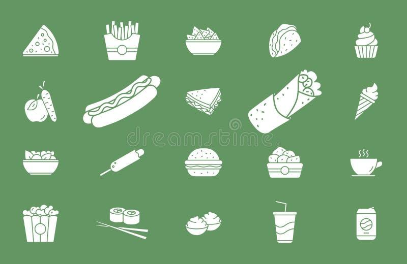 Snel Voedselpictogrammen 02 stock illustratie