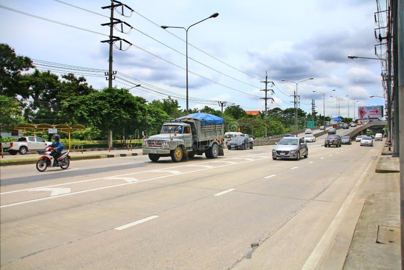 Snelheid haastig bij Km 1 Ramintra-Road stock afbeeldingen
